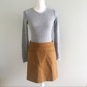 NWT LOFT Perfect Autumn Cognac Skirt